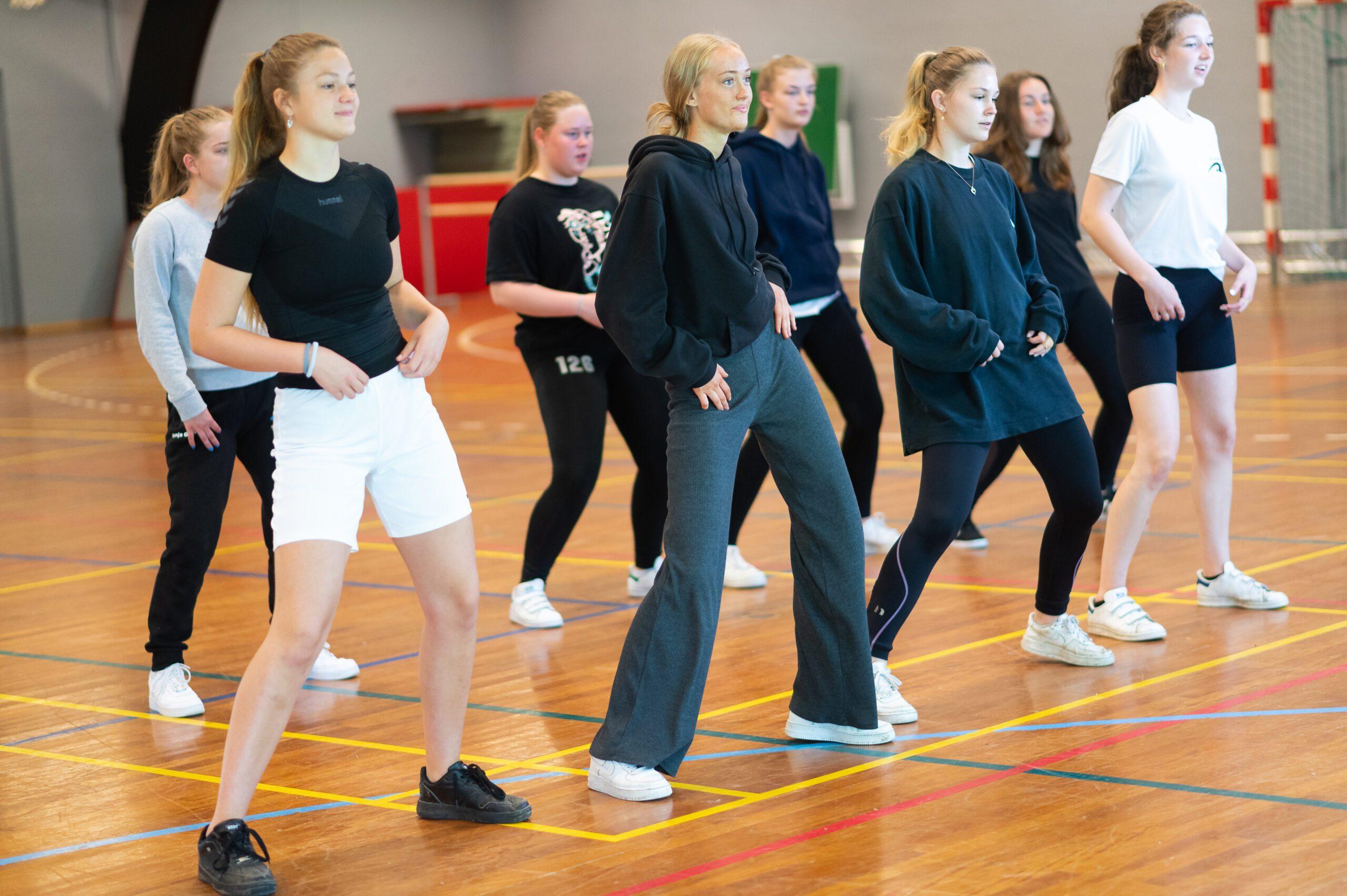 Dygtige dansere på efterskole på Fyn